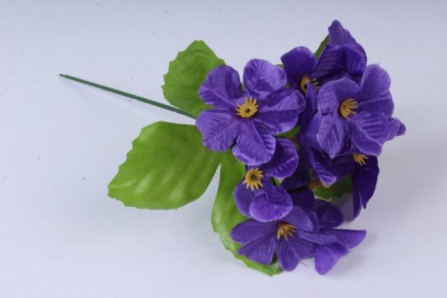 Искусственное растение - Гортензия 20 см фиолетовая