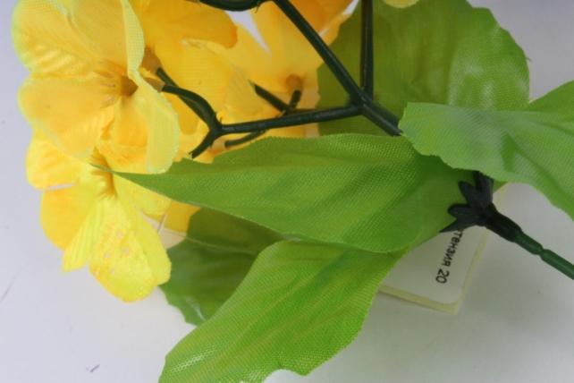 искусственное растение - гортензия 20 см жёлтая