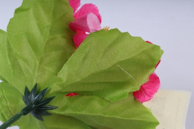 искусственное растение - гортензия 20 см малиновая