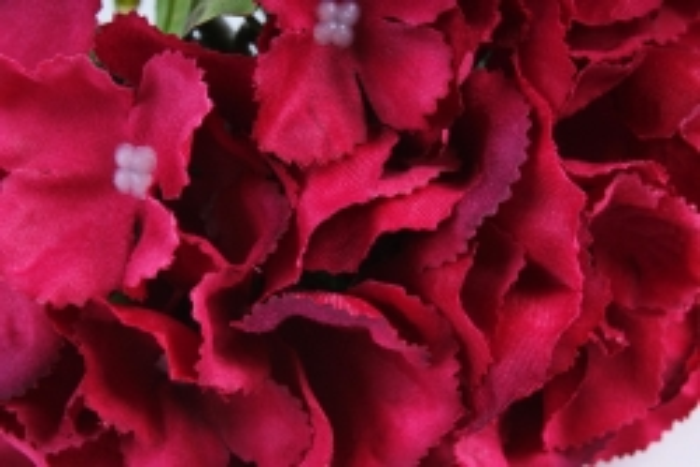 Искусственное растение -  Гортензия бордо  (Т)
