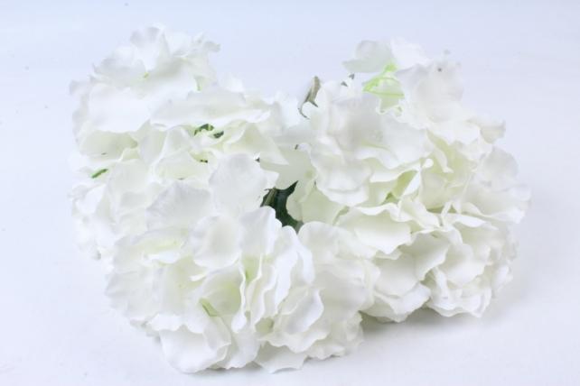 Искусственное растение -  Гортензия Форевер белая  б10329