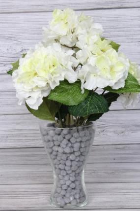 Искусственное растение -  Гортензия ветка 45 см белая