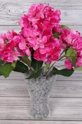 Искусственное растение -  Гортензия ветка 45 см малиновая