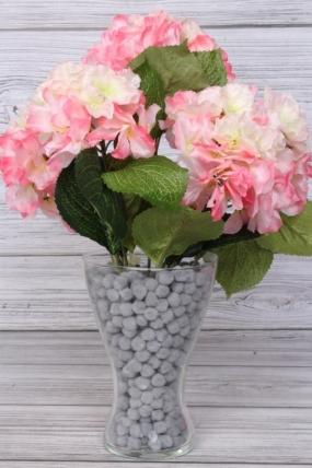 Искусственное растение -  Гортензия ветка 45 см розовая