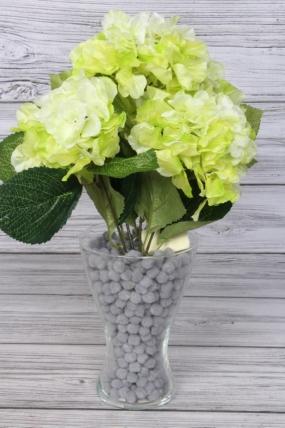 Искусственное растение -  Гортензия ветка 45 см салатовая
