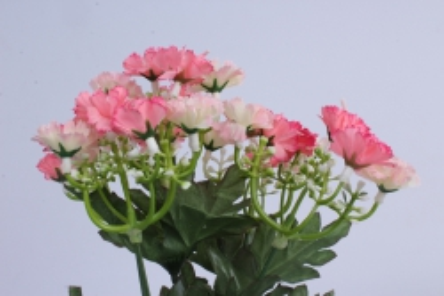 искусственное растение - гвоздички розово-белые 30 см