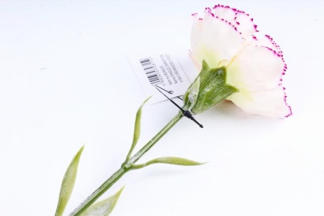 Искусственное растение -  Гвоздика с малиновым краем  SUN005