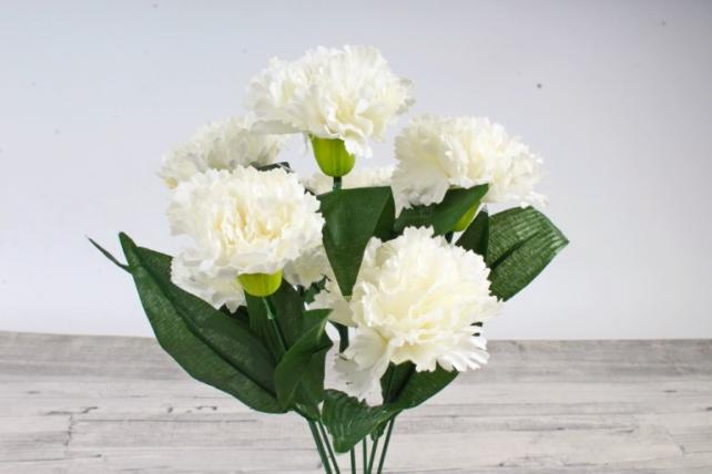Искусственное растение -  Гвоздика турецкая белая   Б10827