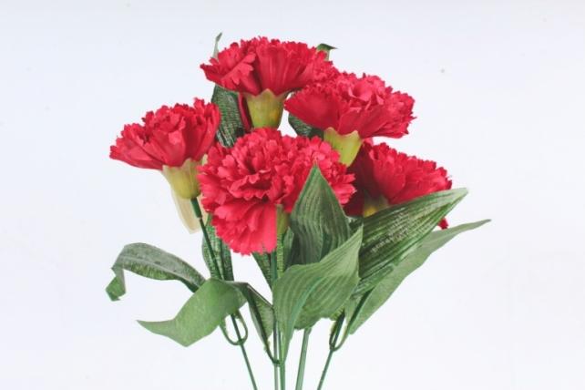 Искусственное растение -  Гвоздика турецкая красная  Б10827