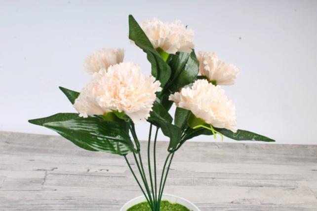 Искусственное растение -  Гвоздика турецкая кремовая   Б10827