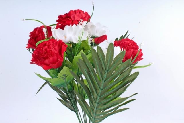 Искусственное растение -  Гвоздика/Ромашка с пальмой