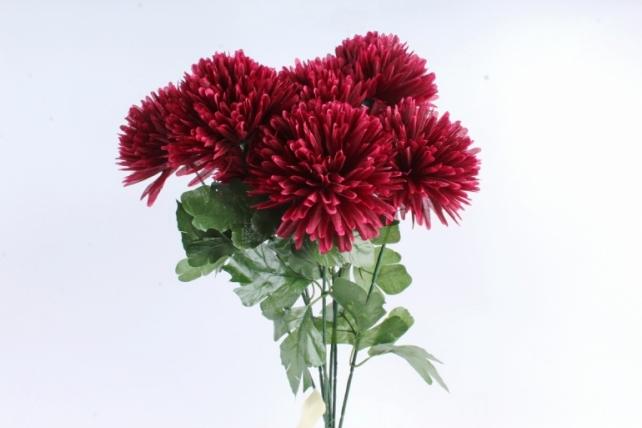 Искусственное растение -  Хризантемы  бордо