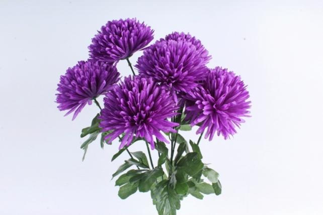 Искусственное растение -  Хризантемы  фиолетовые