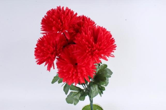 Искусственное растение -  Хризантемы  красные