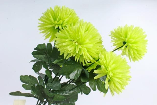 Искусственное растение -  Хризантемы  салатовые