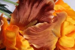 Искусственное растение -  Ирис Лорион жёлто-коричневый  Б9144