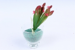 Искусственное растение -  Кактус Молочай Треугольный  Э10311