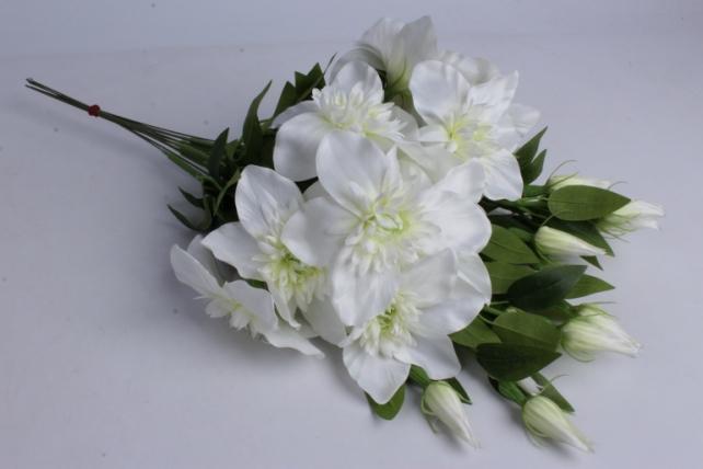 Искусственное растение - Клематис белый  (12шт в уп)  SUN540