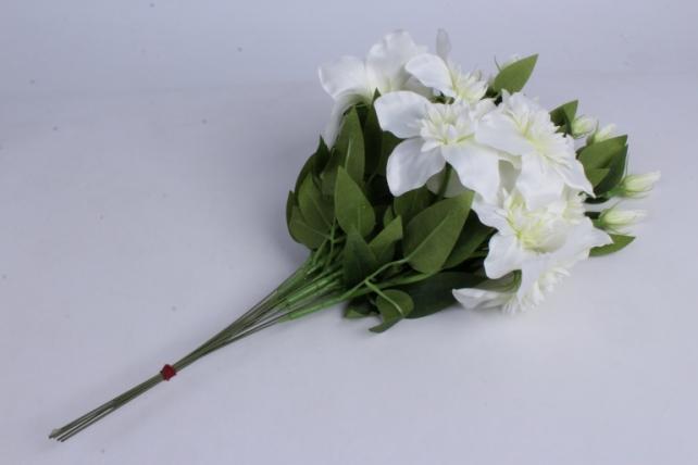искусственное растение - клематис белый 50см  (12шт в уп)  sun540