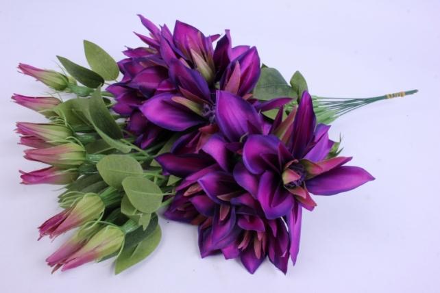 Искусственное растение - Клематис Фиалковый 45см(12шт в уп) SUN500