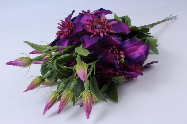 Искусственное растение - Клематис фиолетовый  (12шт в уп)  SUN540