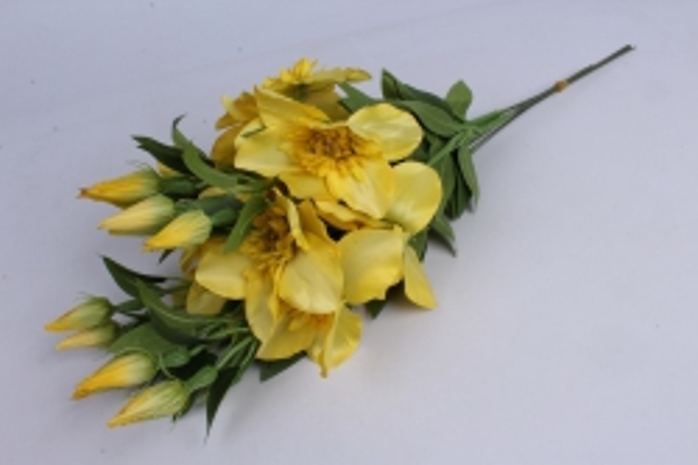 Искусственное растение - Клематис желтый   (12шт в уп)  SUN540