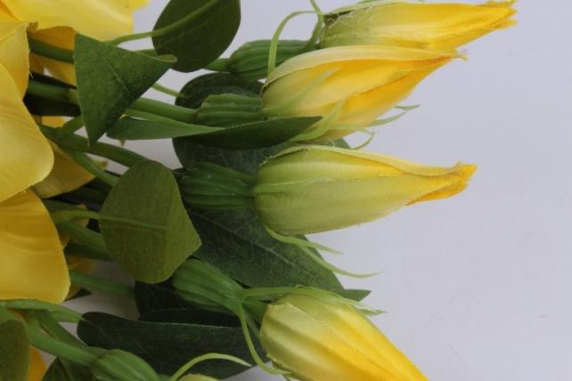 искусственное растение - клематис желтый 50см  (12шт в уп)  sun540