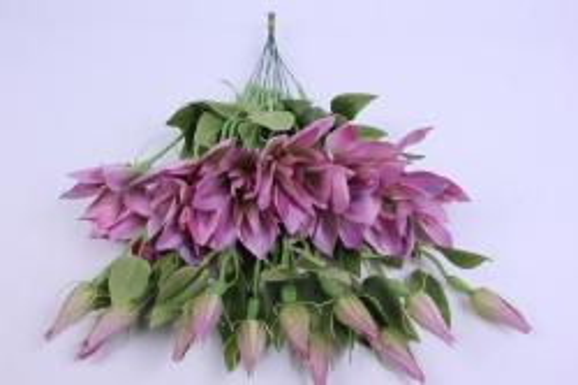 искусственное растение - клематис пепельно-сиреневый 45см(12шт в уп) sun500