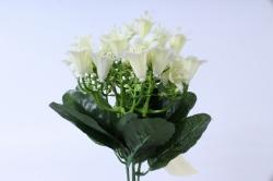 искусственное растение - колокольчик с гипсофилой белый h=25cm