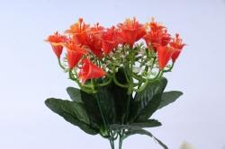 искусственное растение - колокольчик с гипсофилой оранжевый h=25cm
