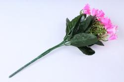 искусственное растение - колокольчик с гипсофилой ярко-розовый h=25cm