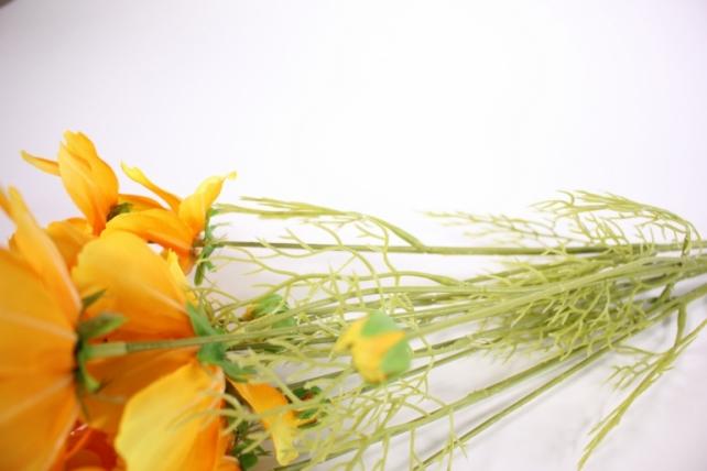 искусственное растение - космея 45см желтая (6 шт в уп) sun448
