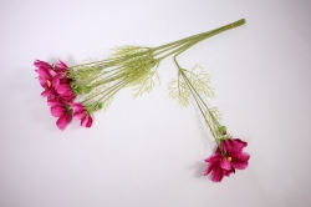 искусственное растение - космея 45см малиновая (6 шт в уп) sun448