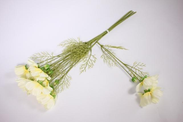 искусственное растение - космея 45см шампань (6 шт в уп) sun448