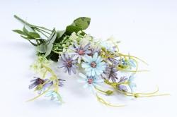 Искусственное растение -  Космея мелкая голубая 40 см (Т)