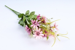 Искусственное растение -  Космея мелкая розовая 40 см (Т)