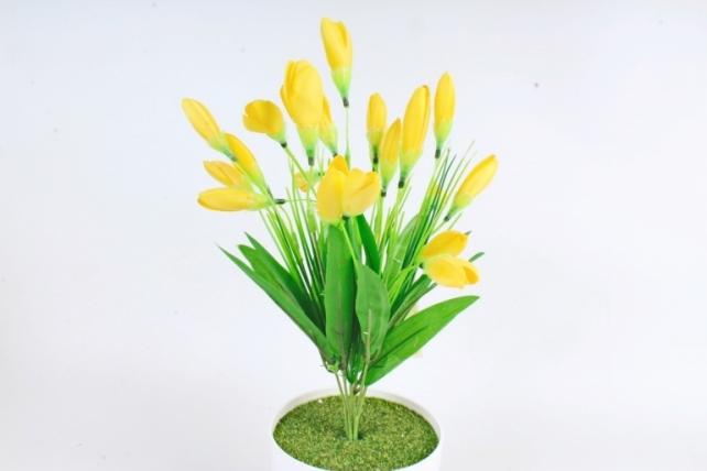 Искусственное растение -  Крокусы европейские жёлтые   Б10501