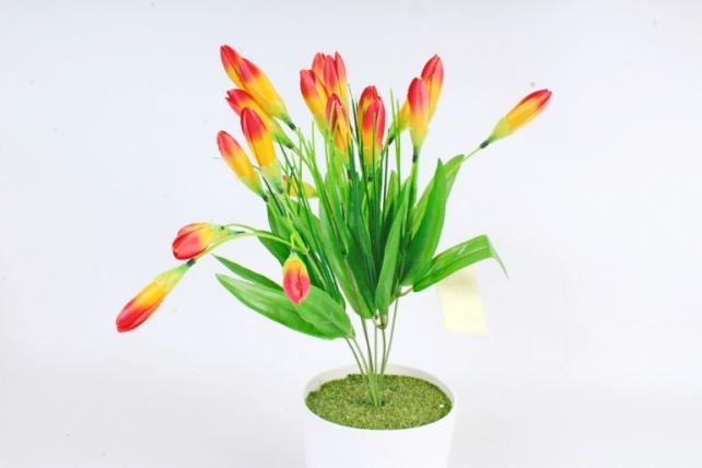 Искусственное растение -  Крокусы европейские оранжевые Б10501