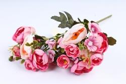 Искусственное растение -  Купальница с примулой бело-розовая  (Т)