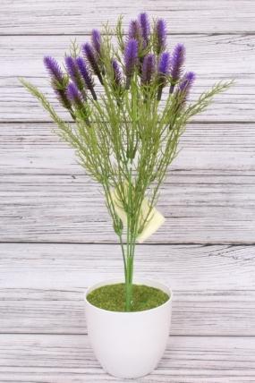 Искусственное растение -  Лагурус фиолетовый. 37 см.