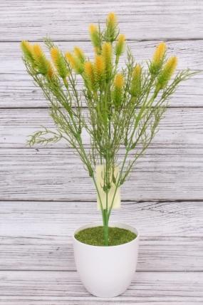Искусственное растение -  Лагурус жёлтый. 37 см.