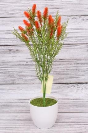 Искусственное растение -  Лагурус оранжевый. 37 см.