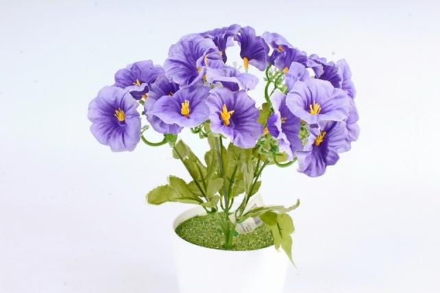 Искусственное растение -  Лаватера васильковая