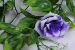 искусственное растение - лиана с розами фиолетовыми
