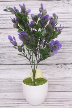 Искусственное растение -  Листики Росянки фиолетовые. 36 см.