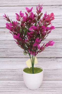 Искусственное растение -  Листики Росянки фуксия. 36 см.