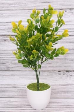 Искусственное растение -  Листики Росянки жёлтые. 36 см.