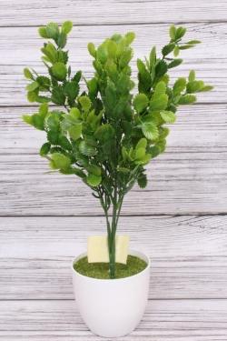 Искусственное растение -  Листики Росянки зелёные. 36 см.