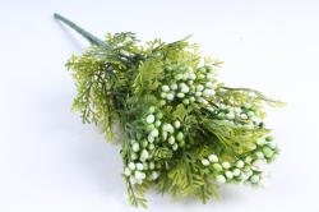 Искусственное растение -  Можжевельник с белыми ягодами  Б10361