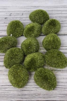 Искусственное растение -  Мох (камни декоративные) (12 шт в уп) 8424